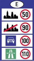 spanyolország sebesség határok